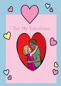 Valentine's Day Card-Couple In A Heart Valentine